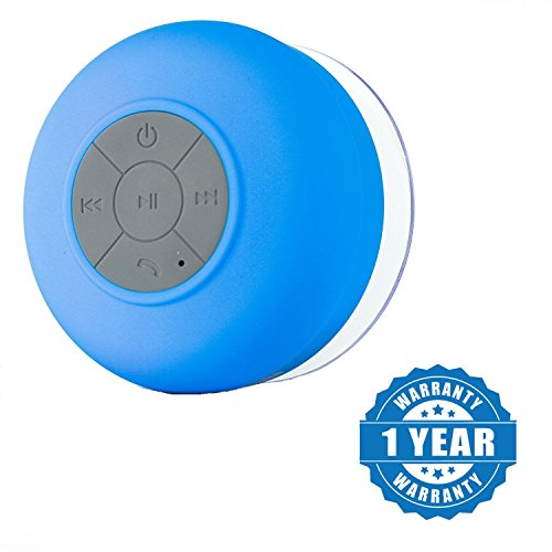 Captcha Bluetooth 3.0 Water Resistant Shower Speaker for Android/iOS Devices (Color may vary)