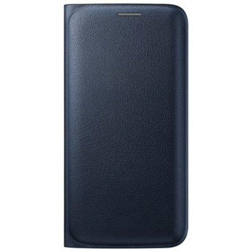 Samsung Flip Wallet Schutzhülle (Kunstleder, mit Kreditkartenfach, geeignet für Galaxy S6 Edge) schwarz (Samsung Galaxy S6 Wallet Case)