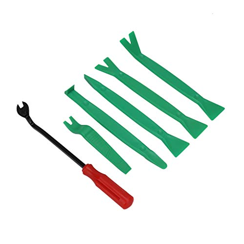 Nowear 6pcs / Set Armaturenbrett verkleidete Tür Autoradio-Trim-Installation Removal Tools Bars Zange Pry Kit Clip