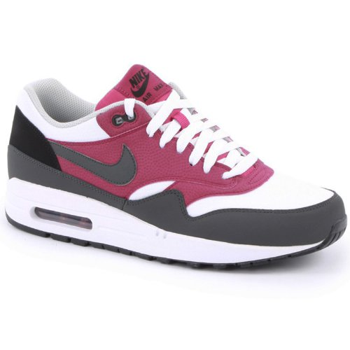 Nike Air Max 1 Essential, Baskets Basses Homme Blanc/Gris/Violet