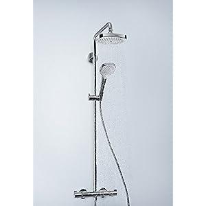 Hansgrohe 27255400 Croma Select S 180 columna de ducha, 4 tipos de chorro, blanco/cromo