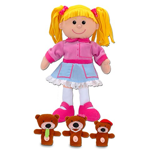 Fiesta Crafts Goldilocks Hand and Finger Puppet Set