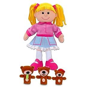 Fiesta Crafts - Marioneta de Mano de Ricitos de Oro y Juego de Marionetas de Dedo