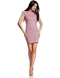 oodji Ultra Mujer Vestido Ajustado con Escote Barco