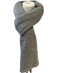 fashion&DU Luxus VISKOSE Kaschmir Wolle Schal dicker Strickschal ITALY KNITWEAR groß