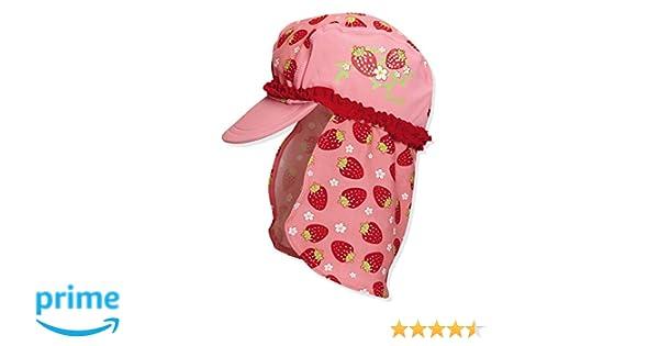 Playshoes Girls UV Sun Protection Swim Cap Sun Hat Roses