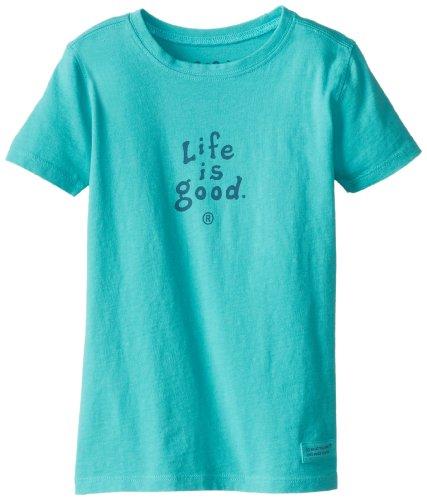 Life is Good Kleinkinder Crusher gestapelt Tee, unisex, aqua blue (Kleinkind Crusher)