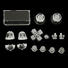 Reemplazo Botones Mod Kit para Sony PS4 Controlador Transparente Luminoso