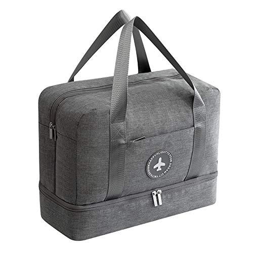 Sporttasche Reisetasche Handgepäck für Damen Männer mit Schuhfach Wasserdicht für Reisen, Outdoor, Camping