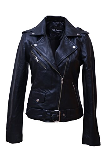 *Urban Leather UR-132 Damen Jacke Biker Perfecto Ladies, Schwarz, Große : L*