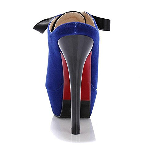 Heel SHINIK Pumps Blue Hausschuhe Wasserdicht Schuhe Wildleder Peep Farbe Sandalen High Toes Frauen Court Kampf Fine qXrHAxr