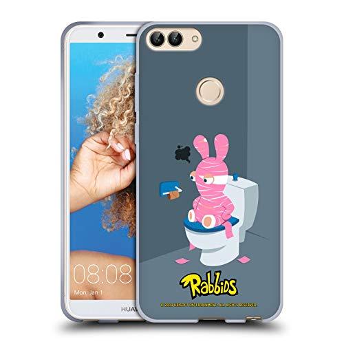 (Head Case Designs Offizielle Rabbids Halloween Darsteller Kunst Soft Gel Hülle für Huawei P Smart/Enjoy 7S)
