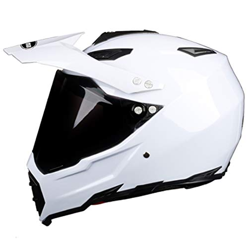 KeRuiLou Motocicletta Integrale off Road Motocross Hemet Touring modulare Black Lens 2 S