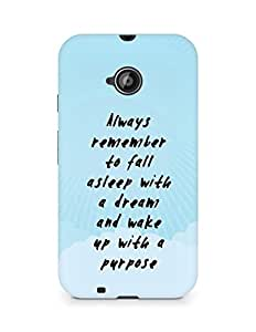 AMEZ always remember to fall asleep with a dream Back Cover For Motorola Moto E2