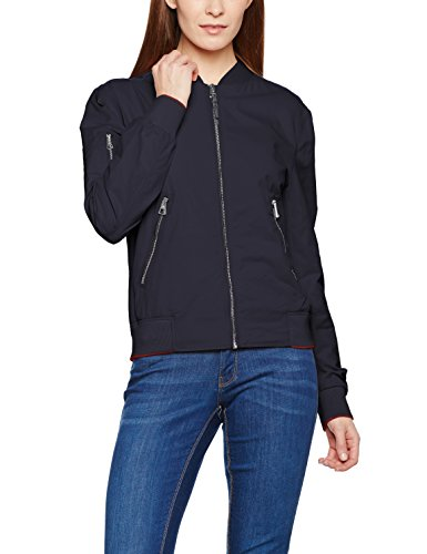 Marc O'Polo Damen Jacke 702109470111, Blau (Deep Sea Blue 899), 44
