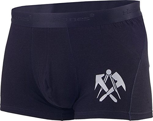 Boxershorts Slip Herren Dachdecker-Emblem schwarz (XL) (Baumwoll-slip Hanes)