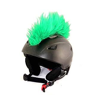 Helm-Irokese für den Skihelm, Snowboardhelm, Kinderskihelm, Kinderhelm, Motorradhelm oder Fahrradhelm - Cooles Helmcover für Kinder und Erwachsene HELMDEKO (Grün)