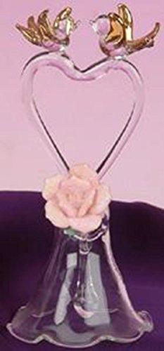 StealStreet ss-ug-bi-602Agapornis Pareja casada cristal Bell pantalla decoración figura decorativa