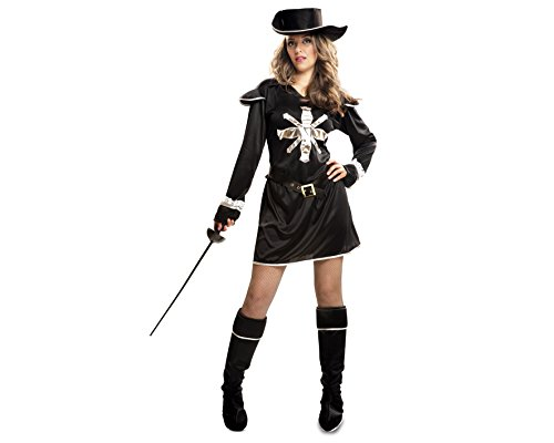 My Other Me - Disfraz de Mosquetera, talla M-L, color negro (Viving Costumes MOM01238)
