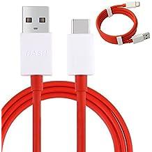 Original tipo C 1M rápido 4A redonda USB Cable de datos cable de carga para One Plus Dash 3eslinga de carga (3toneladas, 5(no empaquetado al por menor) (solo uso con Dash Cargador para carga rápida)