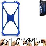 K-S-Trade Handyhülle für Doogee Y6 4G Silikon Schutz Hülle Cover Case Bumper Silikoncase TPU Softcase Schutzhülle Smartphone Stoßschutz, blau (1x)