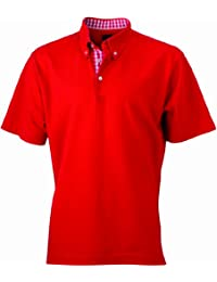 James & Nicholson Herren Poloshirt Poloshirt Men's Plain