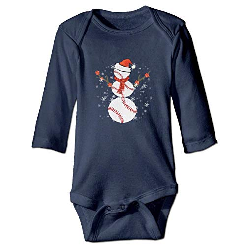 WBinHua Bodysuits Baby Body, Kawaii Christmas Baseball Snowman Baby Toddler Long Sleeve Onesies Bodysuits - Sammlung Bodysuit