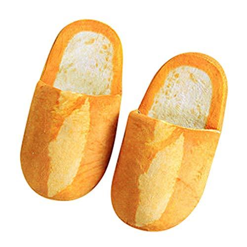 Italily Adulto Autunno Inverno Pantofole Caldo Scarpe da casa 3D Divertente Scarpe Bread Scarpe Sveglio Indoor Morbido Caldo Peluche Casa Scarpe per Adolescenti Donna Uomo