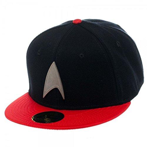Star Trek Metal Badge Red Snapback Baseball Cap