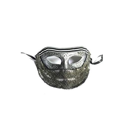 ZHANGXLAA Männer Punk Übertreibung Silber Einfache Maskierte Sänger Singen Halloween Maskerade Maske Männer,Silver