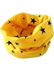 Tongshi Otoño Invierno Niños Niñas collar bebé de la bufanda del algodón O Ring Pañuelos(Amarillo)