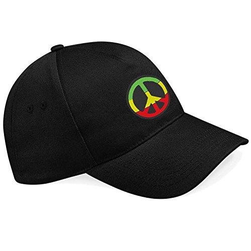 Peace Frieden Jamaika Reggae Rules Bestickte Baseball Cap Mütze -k059SW (Baseball Jamaika)