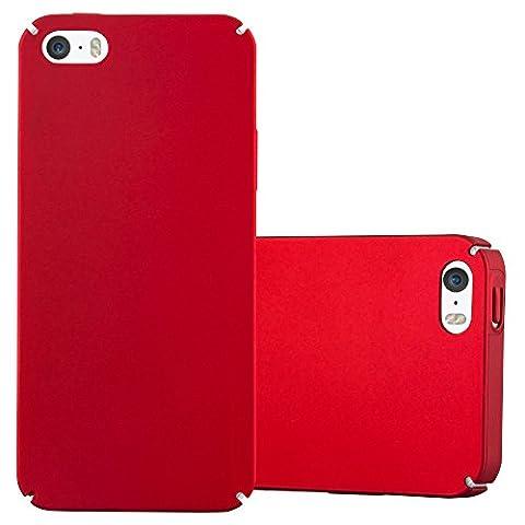 Cadorabo – Hard Cover Slim Case pour > Apple iPhone 5 / 5S / SE < en Design Métallique Mat – Coque Housse Bumper en ROUGE-MÉTAL