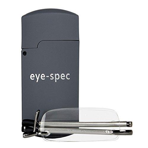 eye-pocket | Stylishe rahmenlose faltbare Lesebrille und Mini-Schutzetui – In 9 Sehstärken verfügbar | von eye-spec – hochwertige Faltbrillen