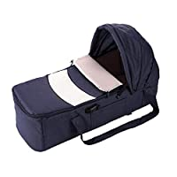 Yamyannie-Home Baby Snuggle Nest Infant Bed Baby Carrycot Bassinet Portable Travel Bed Crib Infant Transporter Basket With Adjustable Canopy And Handle For 0-7 Months Babies Doll Cradle