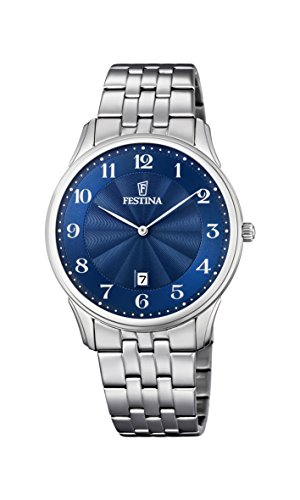 Festina Unisex Quartz Watch Analogue Display and Stainless Steel Strap F6856/3