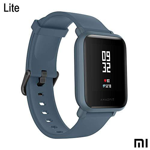 Xiaomi Amazfit Bip Lite SmartWatch Monitor de Actividad Fitness Resistente al Agua 30 Metros Pulsómetro Modos Deportivos iOS & Android (Versión Internacional - Azul (Reacondicionado)