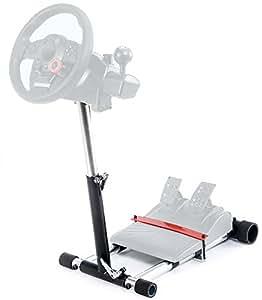 Wheel Stand Pro Lenkrad Halterung für Logitech Driving Force GT/PRO/EX/FX - Deluxe V2 Schwarz