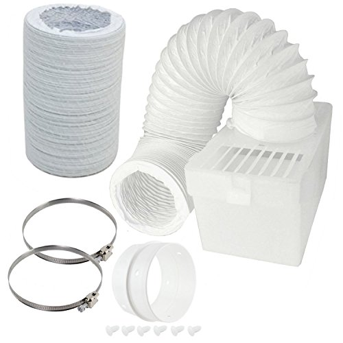 Spares2go Boîte de condensation et extra long kit de tuyaux avec bague de connexion pour Bosch sèche-linge (10,2 cm/100 mm de diamètre)