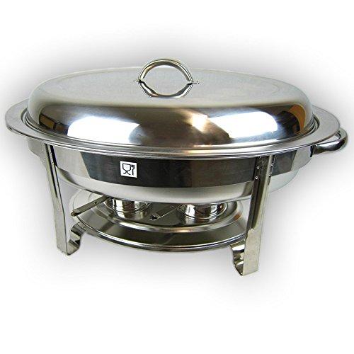 Preisvergleich Produktbild Ovaler Chafing Dish Speisenwärmer Warmhaltebehälter aus Edelstahl