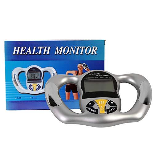 ZUZEN Hand-Griff-Messinstrument-Körperfett-Messgerät elektronischer menschlicher Körperfett-Analysator Silber