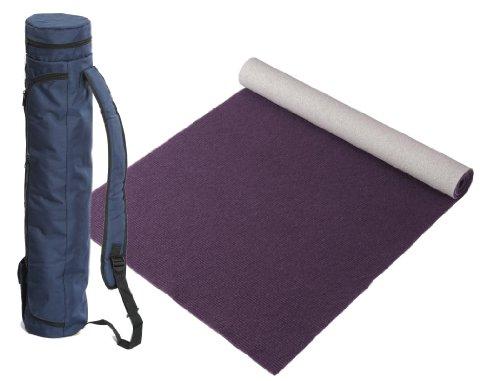 Bausinger Yogaset: Yogamatte Lite, Florhöhe 5mm, 80×200 cm, aubergine, mit passender Yogatasche