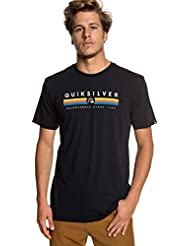 Quiksilver Get Bizzy Camiseta, Hombre, Negro (Black), M