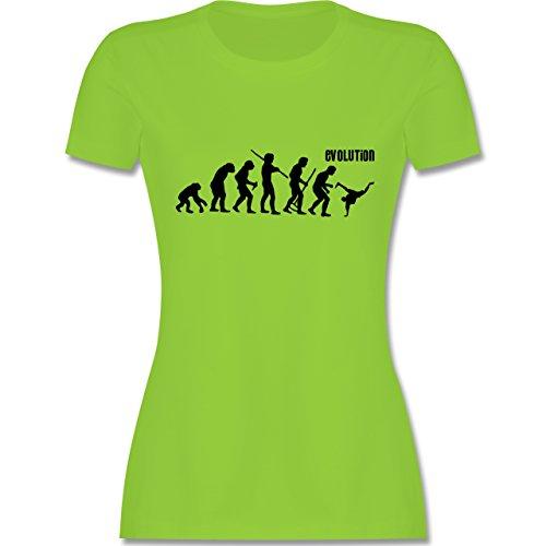 Evolution - Breakdance Evolution - tailliertes Premium T-Shirt mit Rundhalsausschnitt für Damen Hellgrün
