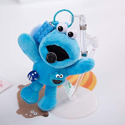 luludsoo Plüsch Spielzeug Cartoon Weiche Gefüllte Spielzeug, Geburtstagsgeschenk, Kinder Paare, KAWS Sesamstraße Rucksack 50cm (0.35kg) Anhänger - Cookie Monster