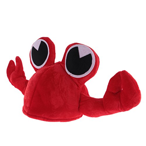 Gazechimp Lustige Fischmütze Fischhut Fisch Hut Mütze Tierhut Tiermütze Fisch Hut Mütze Faschingshut - Rot Krabben, 58 (Kostüme Fisch Hüte)