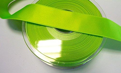 Großhandel für Schneiderbedarf K. Gröger 2 m Satinband Double Face 40 mm neon grün