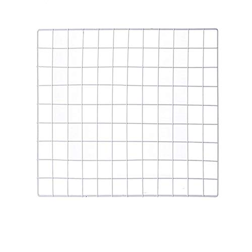 ShouYu DIY Grid Panel Foto Wand,Gitter,ins Mesh Wand,Multifunktion Gitterwand Deko,Memo Brett Organisator Regale (Weiß,60×60cm)