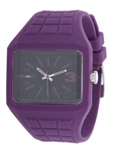 Edc MINI MICRO By Esprit Rebel EE100571004 Men's Watch Analogue Quartz Black Rubber Strap Purple Dial