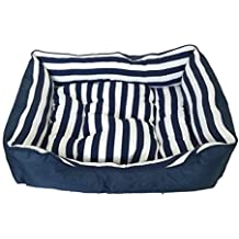 Cisne 2013, S.L. ¡ÚLTIMAS Unidades! Cama para Mascota Estampado Rayas Azules Y Blancas